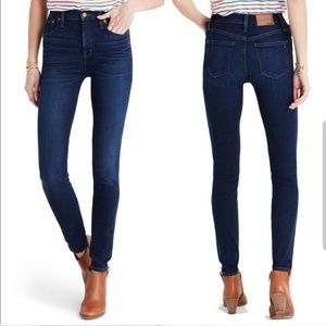 "Madewell 10"" High Rise Skinny Hayes Jeans sz 25"